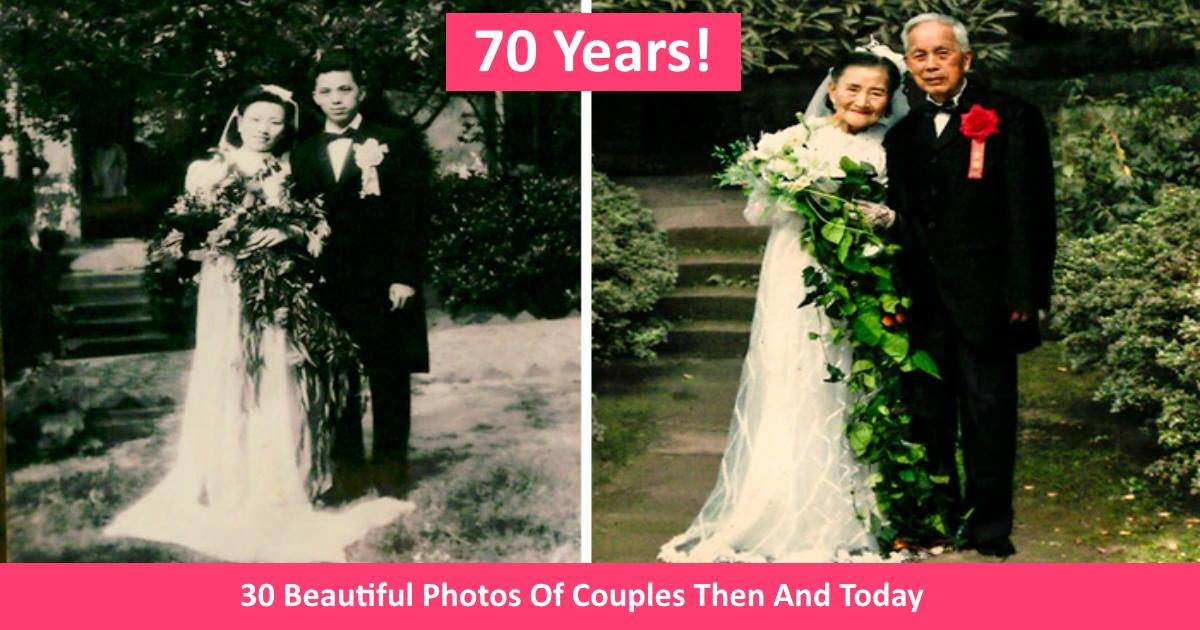 thenandnowphotos - 30 Beautiful Photos Of Couples Then And Today, Showing That True Love Never Fades