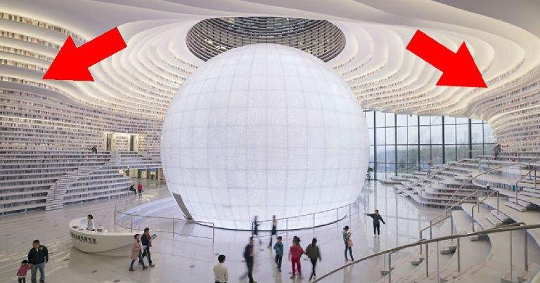 thumbnail5kjkuy.jpg?resize=412,232 - China inaugura uma mega biblioteca com design futurista surpreendente!