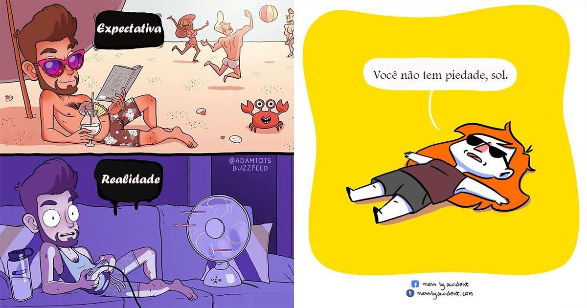 thumbnail6.png?resize=412,232 - Ilustrações que todo mundo que odeia o calor vai se identificar!