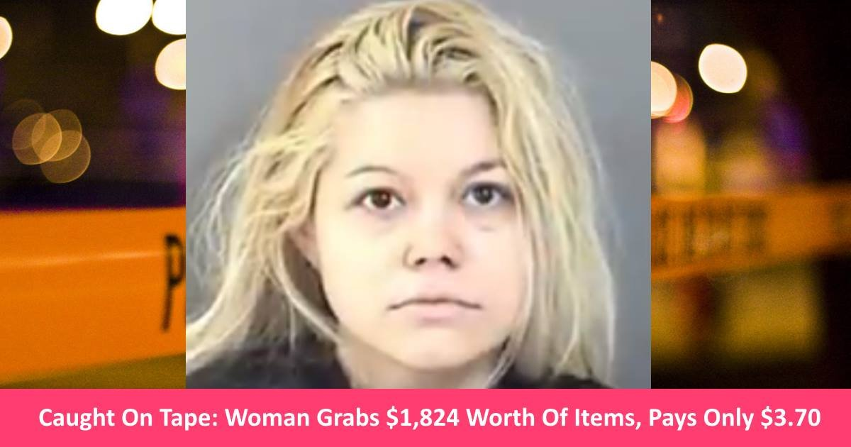 walmartthief.jpg?resize=300,169 - Caught On Tape: Woman Tries To Fool Walmart Into Giving Her $1,824 Worth Of Items For Only $3.70!