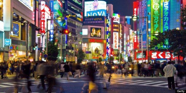 Busy crossing in Shinjuku