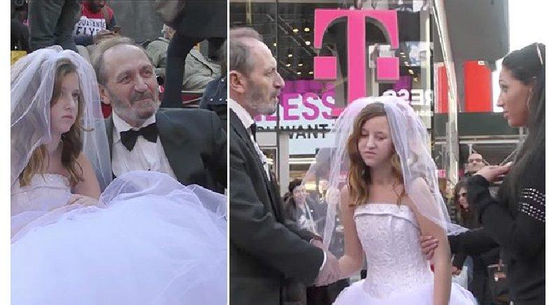 65세 남자가 12세 소녀와 결혼식 올리는 모습에 분노한 뉴요커들