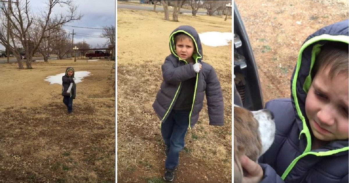 3 4 - Little Boy Finally Reunites With His Lost Dog After A Month