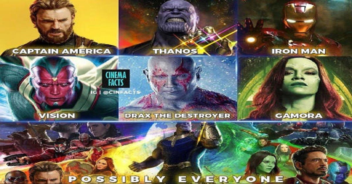 33 13 - '어벤져스:인피니티 워'에서 죽을 가능성이 높은 캐릭터들