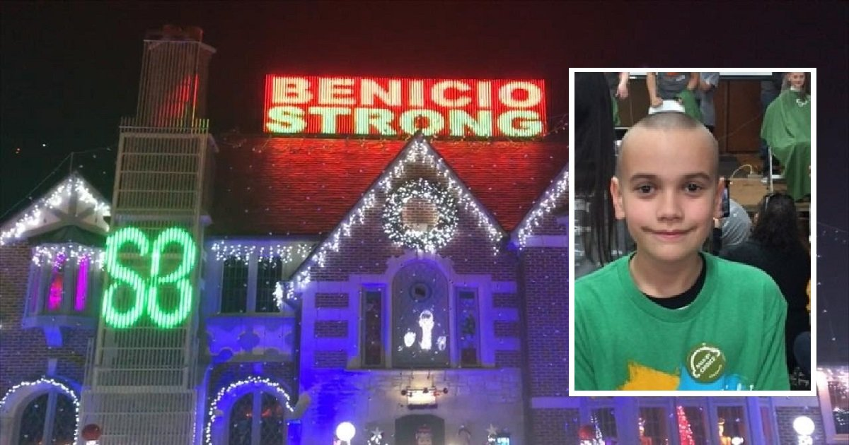 565656 - A Boy Who's Battling Cancer Was Honored In Holiday Light Display By Neighbors