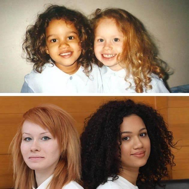 El resultado de la imagen para estos gemelos con diferentes colores de piel es '1 en un millón' - Aquí están todos crecidos