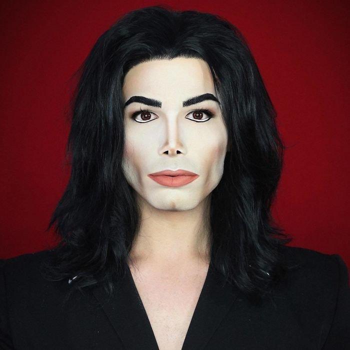 BWvUqjvldeV png  700 - Un joven puede transformarse en cualquier celebridad solo con maquillaje