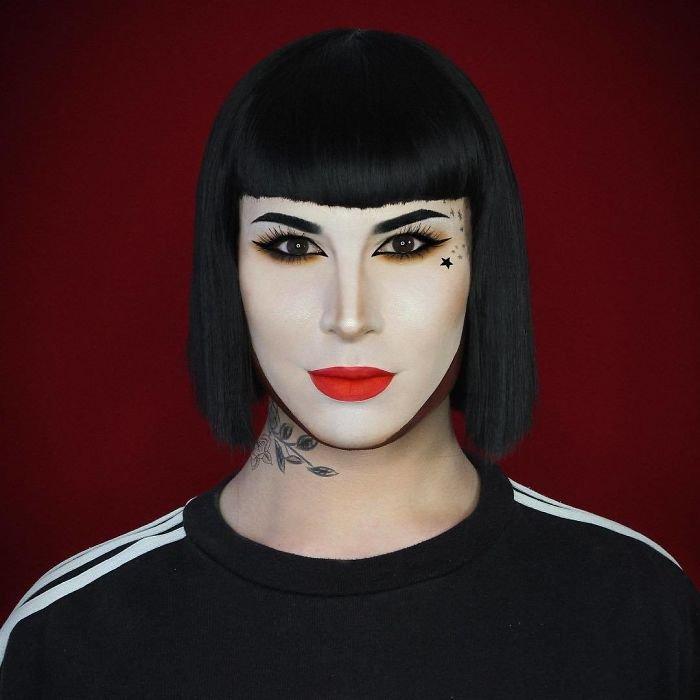 BX06uDylUoG png  700 - Un joven puede transformarse en cualquier celebridad solo con maquillaje