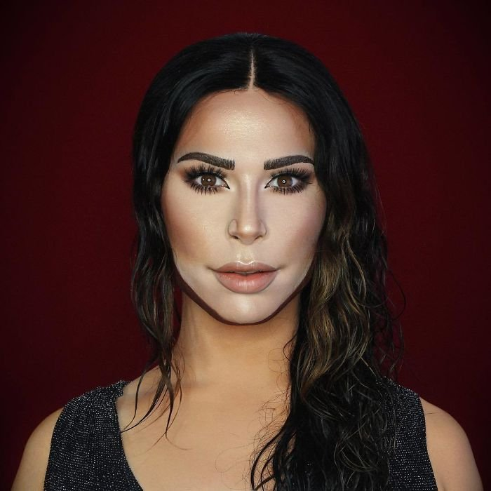 BZojkokFuxf png  700 - Un joven puede transformarse en cualquier celebridad solo con maquillaje