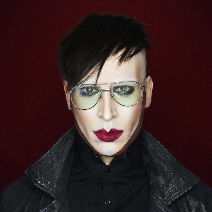 Bbm0scalepE png  700 - Un joven puede transformarse en cualquier celebridad solo con maquillaje