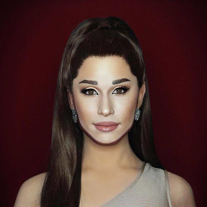 BbxDboplBmW png  700 - Un joven puede transformarse en cualquier celebridad solo con maquillaje