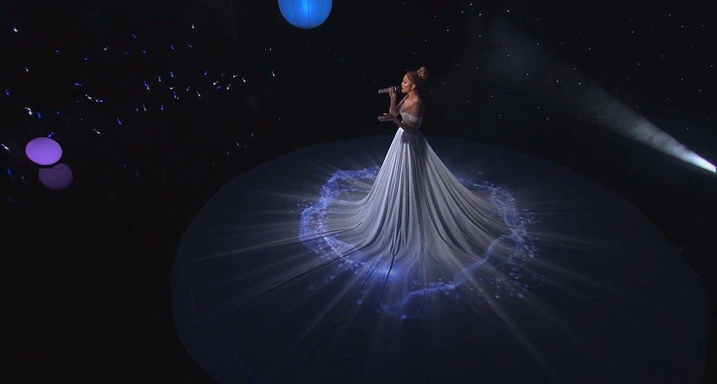 Jennifer Lopez White Ball Gown American Idol 1 - Why Jennifer Lopez's Dress in American Idol Performance Left People Speechless