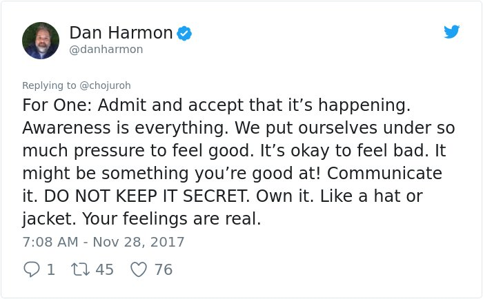 dealing depression answer dan harmon rick and morty 2 - Girl Requests How To Tackle Depression, Not Expecting Daniel Harmon Would Respond