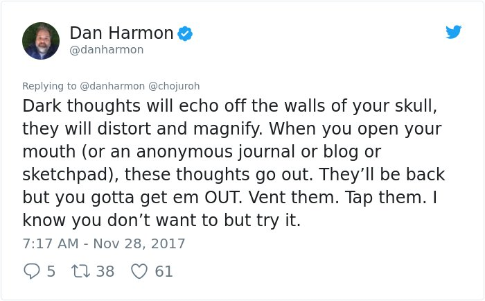 dealing depression answer dan harmon rick and morty 5 - Girl Requests How To Tackle Depression, Not Expecting Daniel Harmon Would Respond