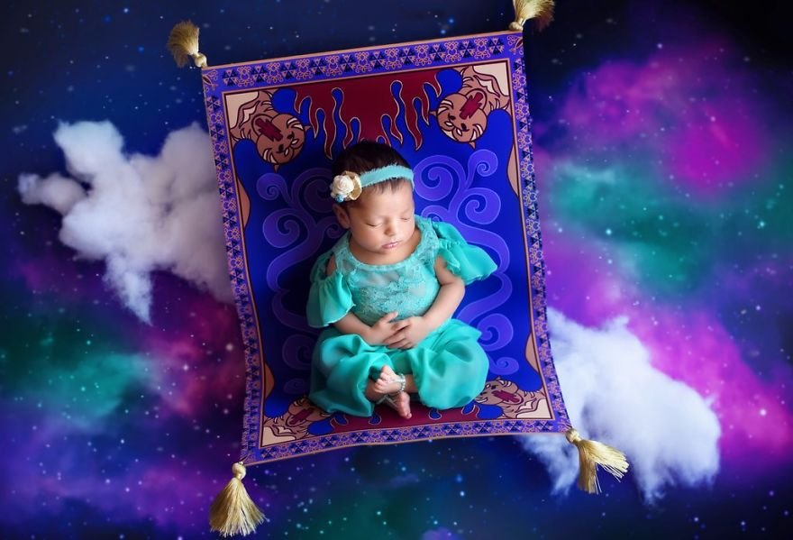 disney babies belly beautiful portraits 10 5978926f3d35c  880 - Disney Princess Themed Baby Photoshoot Has Taken The Internet By Storm
