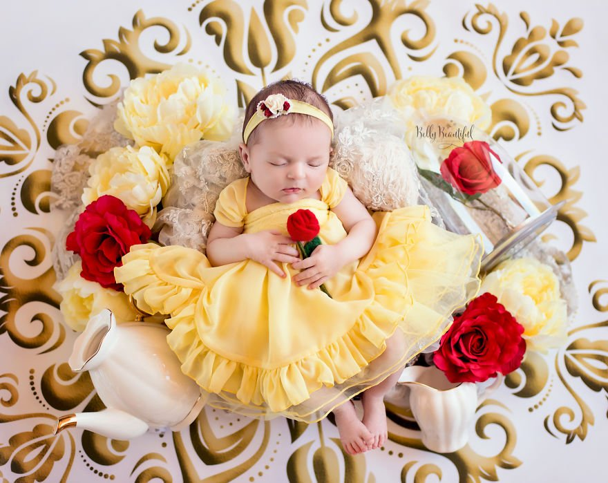 disney babies belly beautiful portraits 14 5978927d88944  880 - Disney Princess Themed Baby Photoshoot Has Taken The Internet By Storm