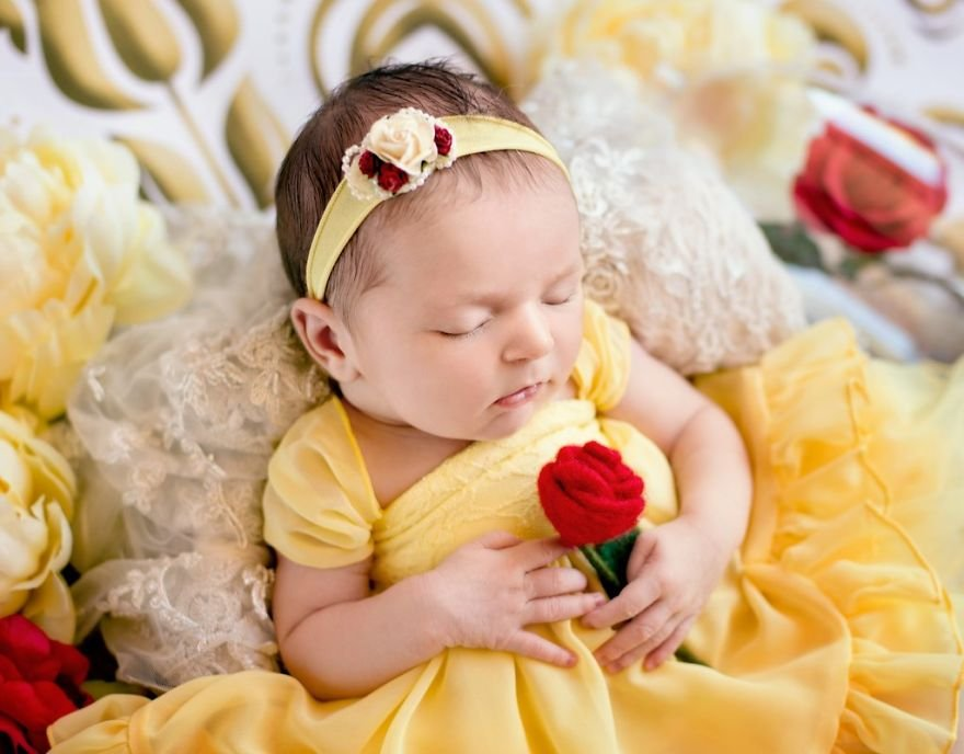 disney babies belly beautiful portraits 15 5978928065445  880 - Disney Princess Themed Baby Photoshoot Has Taken The Internet By Storm