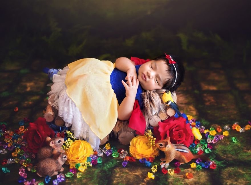 disney babies belly beautiful portraits 2 5978925759c8d  880 - Disney Princess Themed Baby Photoshoot Has Taken The Internet By Storm