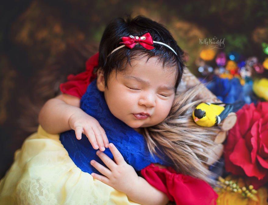 disney babies belly beautiful portraits 3 5978925b793b3  880 - Disney Princess Themed Baby Photoshoot Has Taken The Internet By Storm