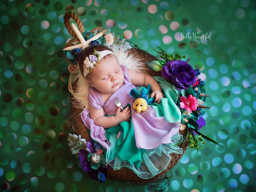 disney babies belly beautiful portraits 6 597892633e18f  880 - Disney Princess Themed Baby Photoshoot Has Taken The Internet By Storm