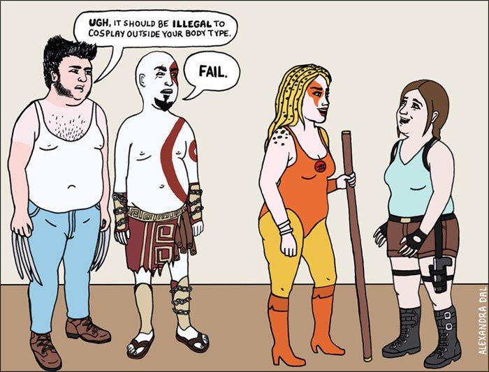 Double-standards-comic-illustrations