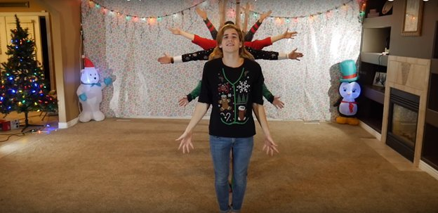 img 5a2d1a583eb47 - O vídeo anual de dança de natal de 8 irmãos está fora e, desta vez, está iluminando a Internet