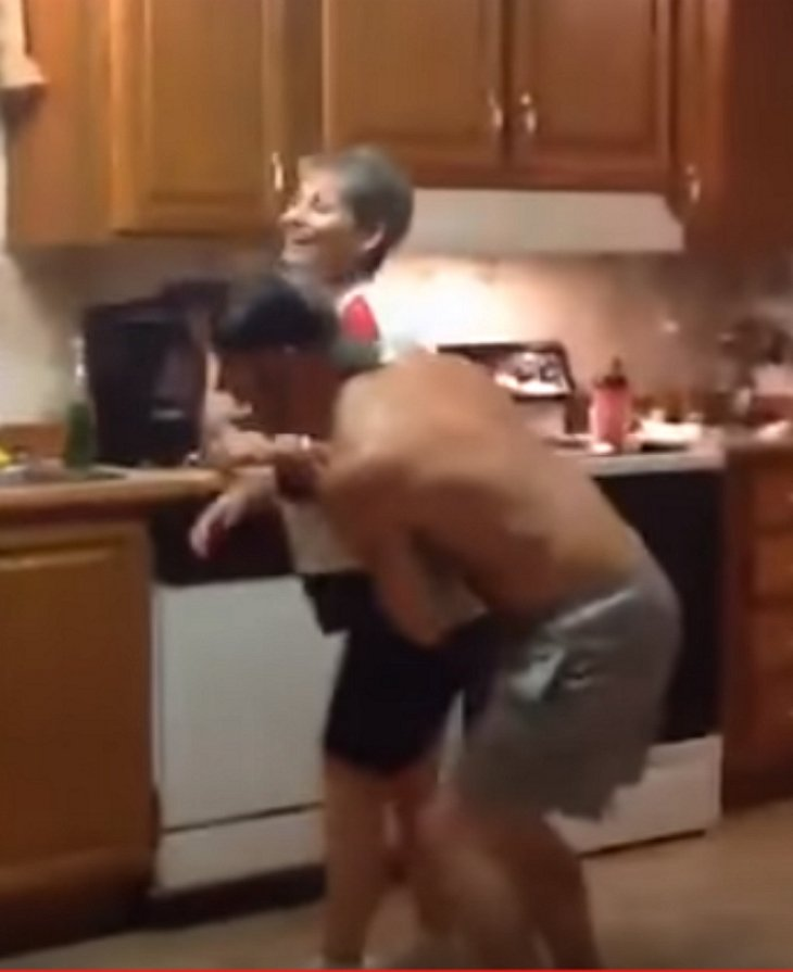 momsondance41 - Son Grabs Mom's Hand When Their Favorite Song Comes On, Their Dance Blows Up The Internet