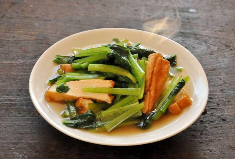 小松菜の煮びたしの写真
