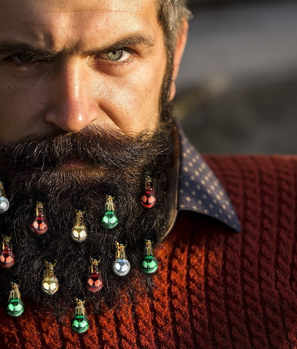 "Promising review: ""Just what I was looking for! This Christmas, my beard will be extra festive (the past two I"