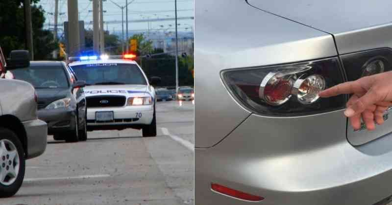 tap 3 - The Reason Cops Touch The Tail Light Of Your Car While Pulling You Over