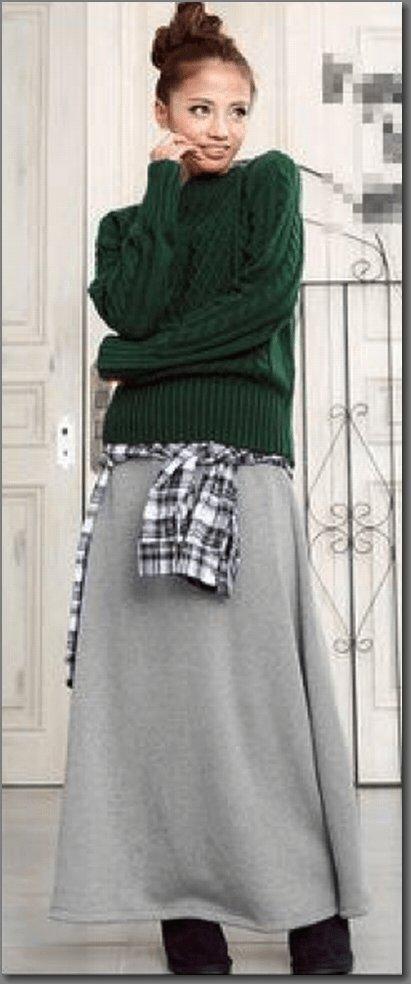 ロングスカートの鉄板コーデ에 대한 이미지 검색결과