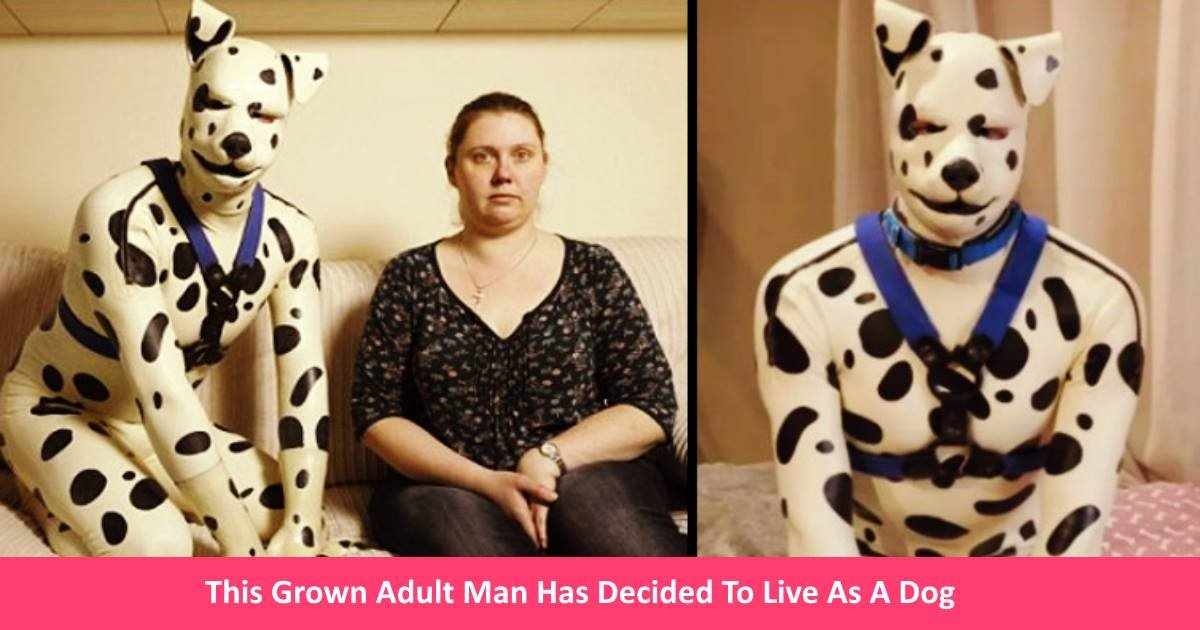adultmandog.jpg?resize=1200,630 - This Grown Adult Man Has Decided To Live As A Dog - Collar And All