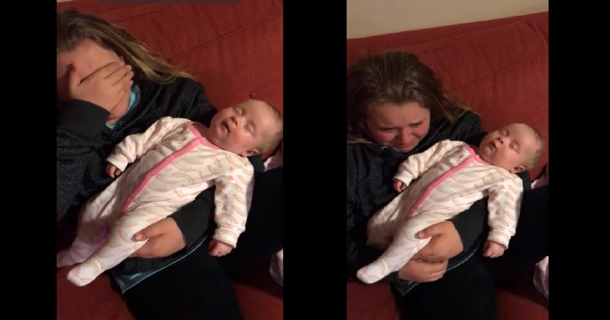 allie3 1 - A Girl Sings For Her Newborn Sister, but Stops And Starts Crying