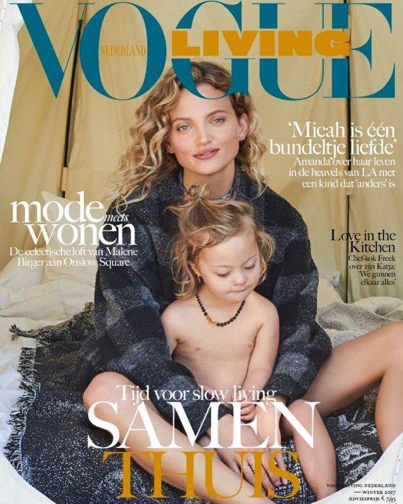 amanda booth vogue - Ce modèle et son fils trisomique font la couverture de Vogue Living
