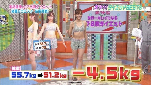 Image result for 菊池亜美 ダイエット