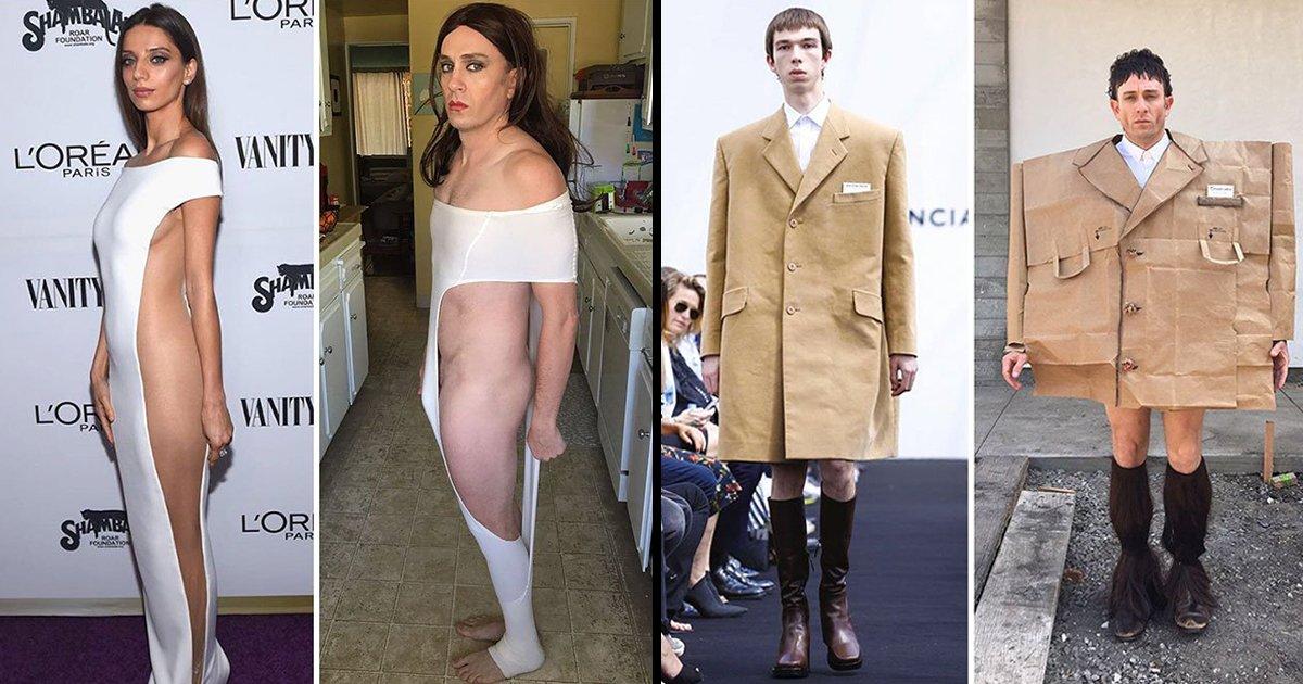 article thumbnail 12.jpg?resize=412,275 - 집에 있는 물건만으로 할리우드 스타의 패션을 재현한 남자 배우 (사진 27장)