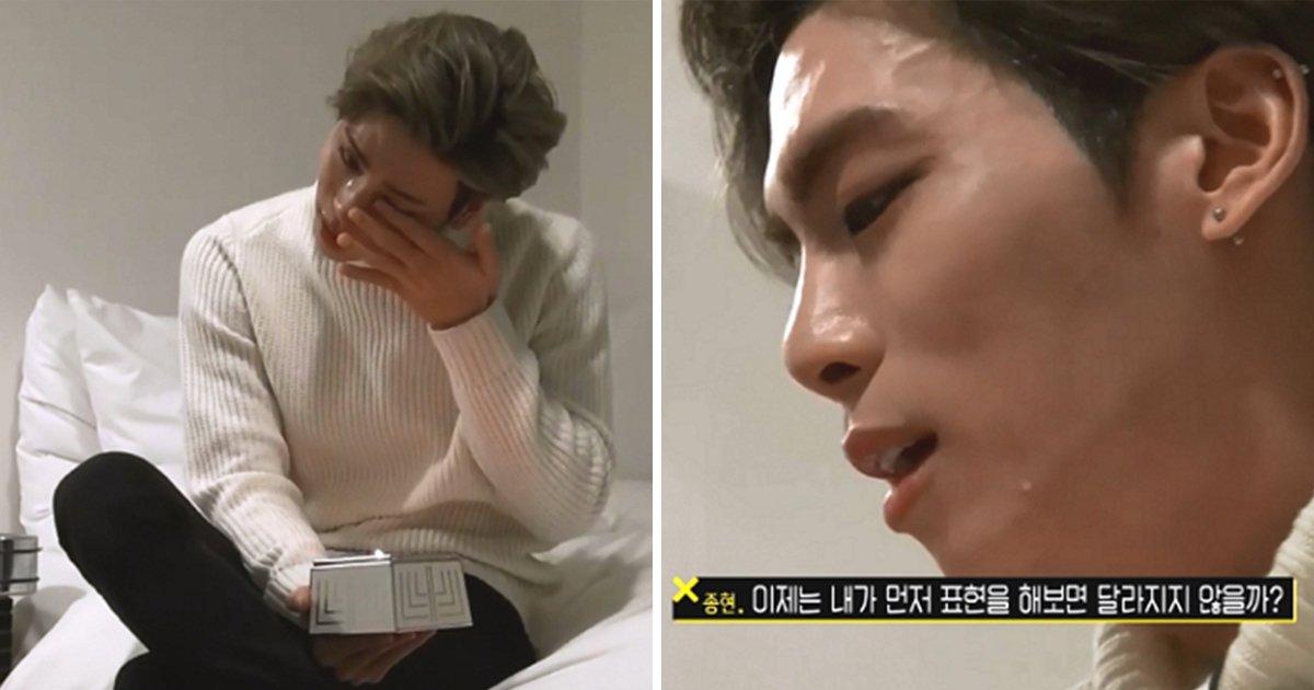 """article thumbnail 48 - """"지쳤어요"""" 속마음 털어놓으며 눈물 쏟은 종현 (영상)"""