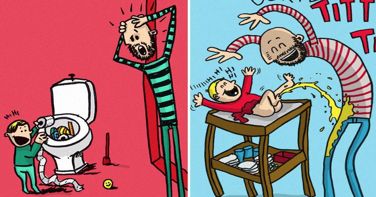 article thumbnail 81.jpg?resize=1200,630 - 아빠가 직접 그린 '이상하고 재미있는' 그림 육아 일기(+11)