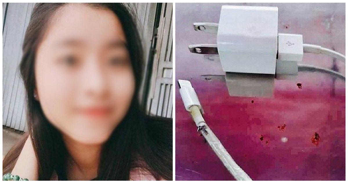 b - 睡前邊滑手機邊充電,越南少女慘遭電死!