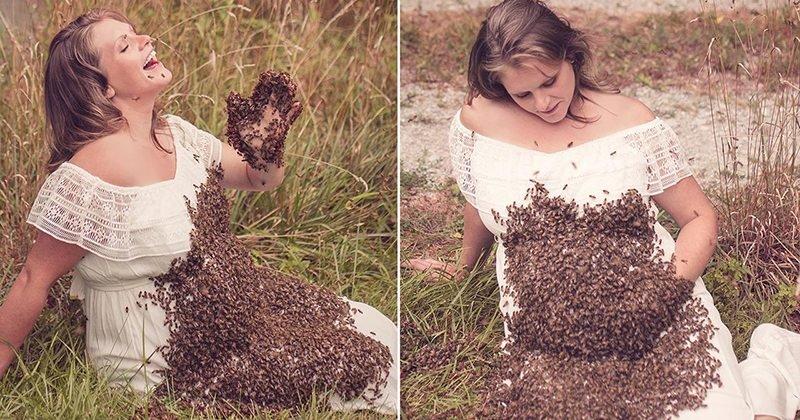 bees4.jpg?resize=636,358 - Grávida que fez sucesso nas redes sociais ao tirar foto do lado de abelhas compartilha uma notícia triste