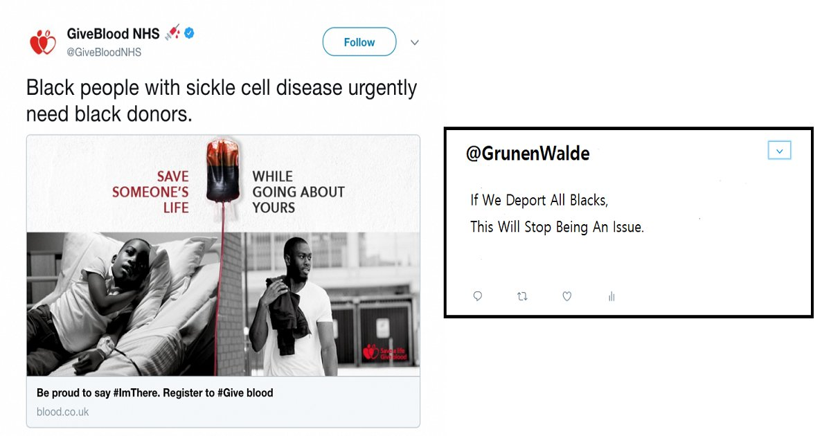 britain national health services tweet 1 1.png?resize=412,232 - Britain's National Health Services Knocked Out A Racist Twitter User