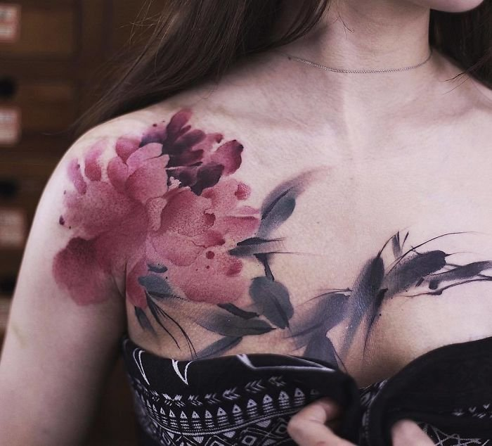 bs jm9ldlam png  700 1 - Watercolor Tattoos By Chen Jie That Will Leave You In Awe!