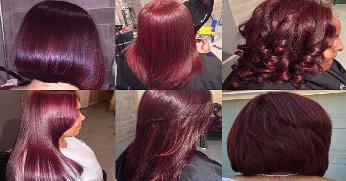 burgundy hair color ideas - 'Mulled Wine Hair' - The Most Fitting Hair Color Trend Of This Winter