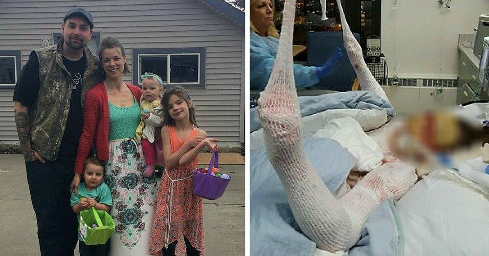 burning mom 1.jpg?resize=1200,630 - Mãe volta para salvar filha que ficou presa em casa em chamas e sofre ferimentos graves
