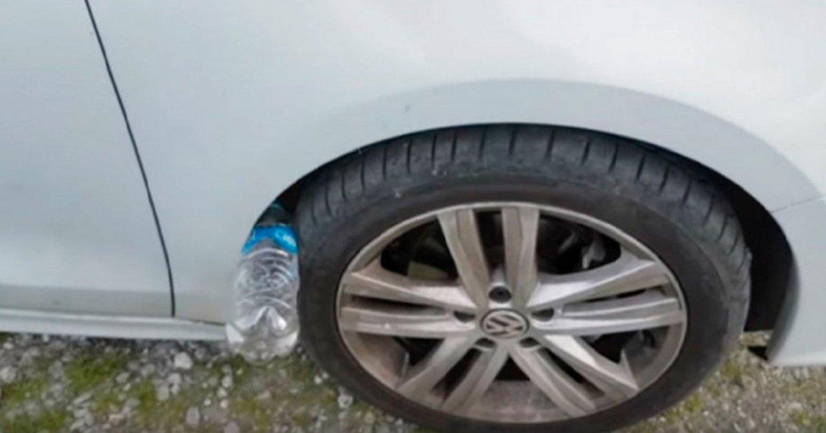 cover 13 - Si encuentras una botella de agua vacía en las llantas de tu auto, podrías ser víctima de un robo.