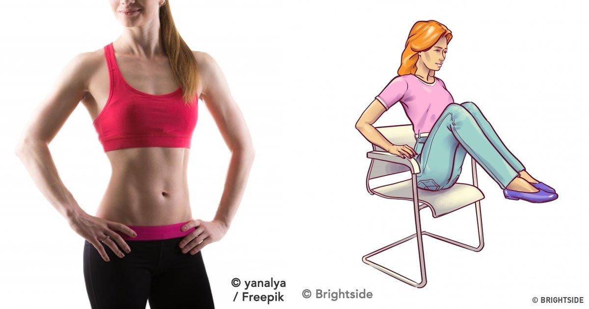 cver 1.jpg?resize=648,365 - 4 Ejercicios para tener un abdomen plano en tres semanas utilizando solamente una silla