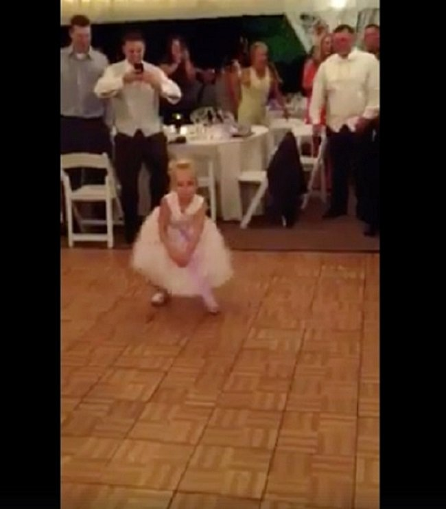 This Young Flower Girl Dances At A Wedding Reception Her Moves And