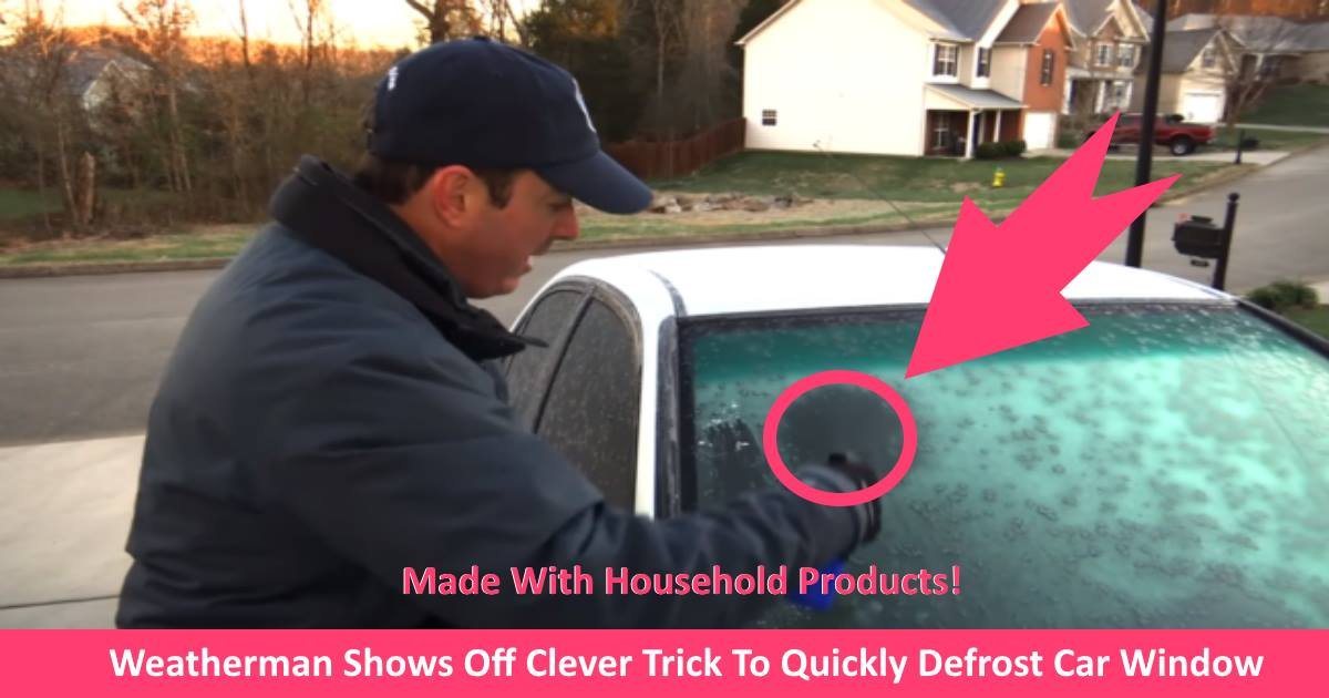 defrostwindows.jpg?resize=412,232 - Weatherman Shows Off Clever Trick To Quickly Defrost Car Window With Basic Home Ingredients!