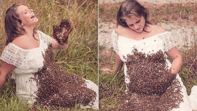 depositphotos 1.jpg?resize=1200,630 - Enceinte, ses photos avec des abeilles cachent une histoire poignante.
