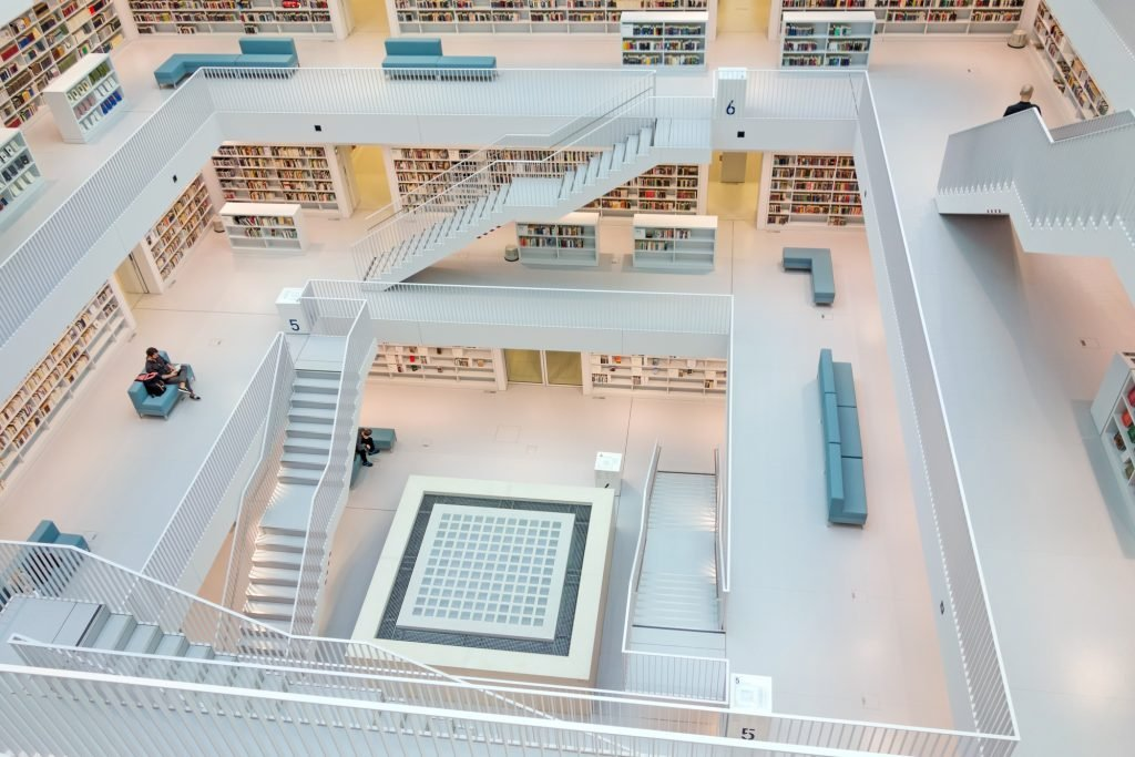 Municipal public library of Stuttgart, Germany